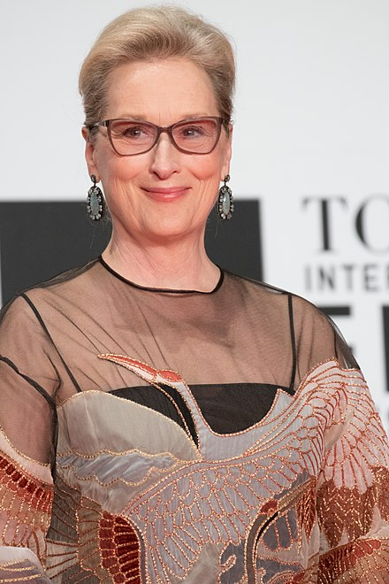 "The actor Meryl Streep Meryl Streep from ""Florence Foster Jenkins"" at Opening Ceremony of the Tokyo International Film Festival 2016 (33644504135).jpg"