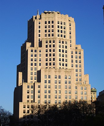 Sony Music Entertainment headquarters in New York City Met Life North Building from West 25th Street.jpg