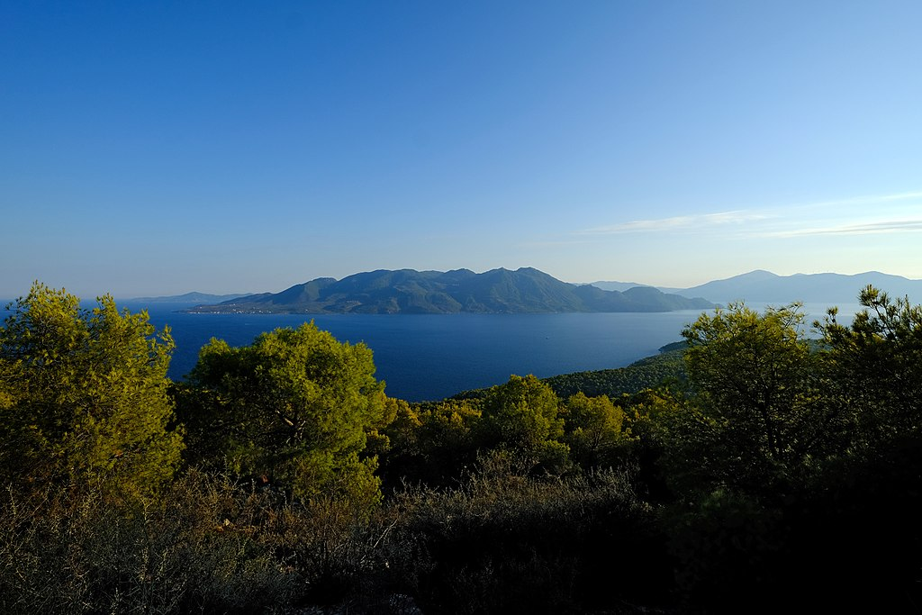 Peninsular view of Agistri island