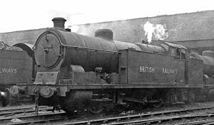 Wath marshalling yard - GCR Class 8H in 1949