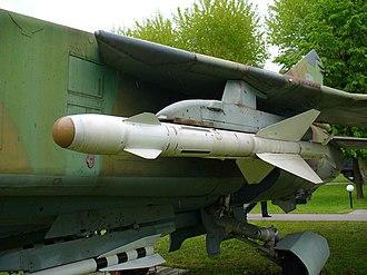R-23 (missile) - R-24T missile under a Ukrainian MiG-23MLD