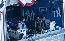 Michael Kay, Paul O'Neill, Ken Singleton in broadcast booth.jpg