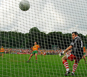 Donegal GAA - Michael Murphy scores a penalty in 2008 Ulster Senior Football Championship