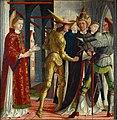 Michael Pacher - Papst Sixtus II. nimmt Abschied vom hl. Laurentius - 4836 - Kunsthistorisches Museum.jpg