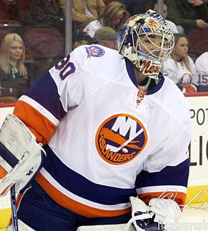 Michal Neuvirth - Neuvirth in 2015 with the New York Islanders