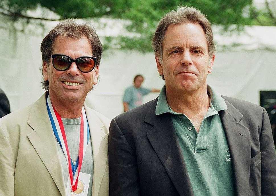 Mickey Hart and band mate Bob Weir of the Grateful Dead