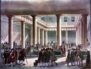 Corn exchange - Corn Exchange, in London circa 1809