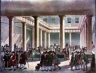 Corn exchange - Corn Exchange, in London circa 1809