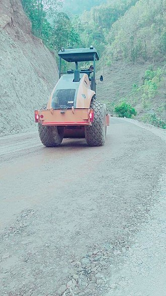 Mid-Hills Highway - A scene of Mid-Hill Highway in Baglung District during constitution