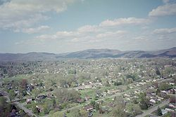 Aerial view of Middlesboro