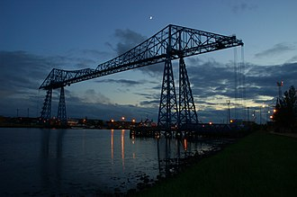 Transporter bridge - Image: Middlesbrough Transporter Bridge