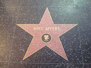Mike Myers - Myers' star on the Hollywood Walk of Fame