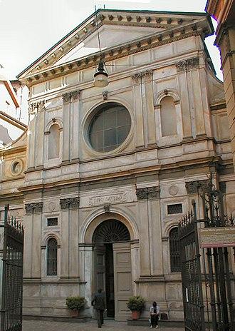 Santa Maria presso San Satiro - Façade of the church.