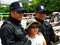 Military Police Special Service Company Team Photoing with Young Boy 20120908.jpg
