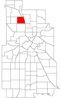 Location of McKinley within the U.S. city of Minneapolis