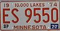 Minnesota 1977 license plate - ES 9550.jpg