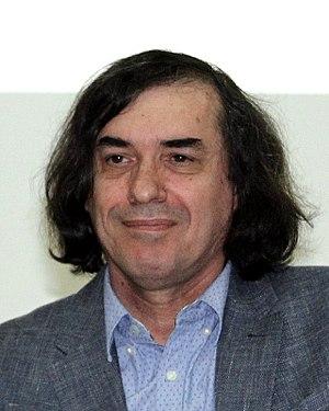 Mircea Cărtărescu - Mircea Cărtărescu at a conference in West University of Timișoara, 2017