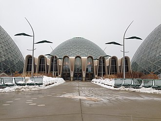 Mitchell Park Horticultural Conservatory - The entrance to the domes
