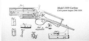 Colt Model 1839 Carbine - A patent of the Colt Model 1839 Carbine