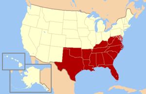 ABD Saym Brosunun Tanmlamasna Gre Gney Eyaletleri Pek Ok Kaynakta Ekonomik Demografik Kltrel Ve Siyasi Nedenlerle Izgili Eyaletler