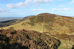 Clwydian Range - Moel Arthur, one of the Clwydian Range's hill forts. Seen from Moel Llys-y-Coed