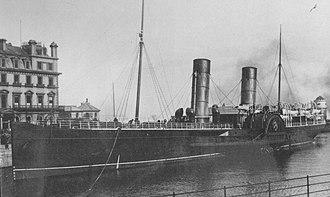 SS Mona's Queen (1885) - Image: Mona's Queen at the Office Berth, Douglas