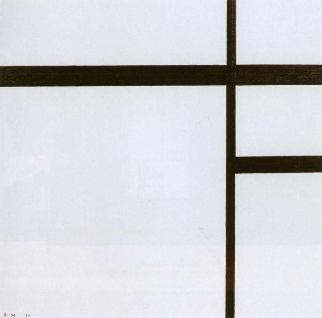 Mondrian, Compositie nr.2 met swarte lijnen