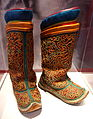 Mongolian boots belonging to Dondoghulam, first consort of Bogd Javzandamba Agvaanluvsan the 8th, ruler of Mongolia, early 20th century - Bata Shoe Museum - DSC00350.JPG