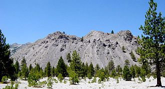 Lava dome - One of the Mono Craters, an example of a rhyolite dome.
