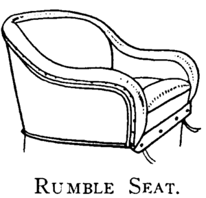 Rumble seat - Image: Monochrome llustration of Rumble Seat circa 1913