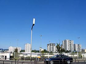 Immeubles, vus depuis la zone commerciale