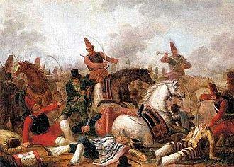 Battle of Quebracho Herrado - Cavalry fight in the age of Rosas (c. 1840) by Carlos Morel