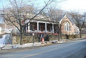 Morton Memorial Library (Rhinecliff, New York) - Morton Memorial Library from the street