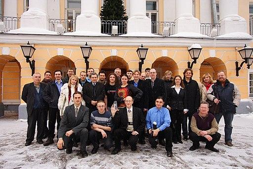 Moscow, Ten Wikipedia anniversary, group photo