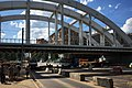 Moscow Central Circle bridge over Shcherbakovskaya Street (31421584912).jpg