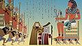 Moses Aharon Shofar Pharaoh by Nina Paley.jpg