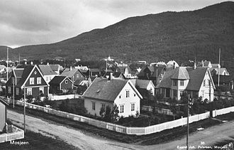 Mosjøen - Spanning 300 years, Mosjøen's architecture includes villas of the early 20th century