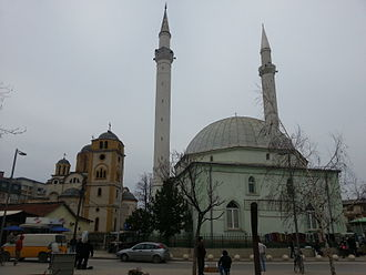 Culture in Ferizaj - Mosque and Orthodox church next to each other
