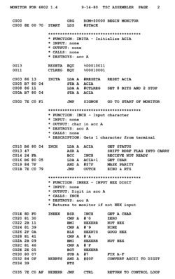 Motorola MC6800 Assemblerspråk: sv.wikipedia.org/wiki/assembler