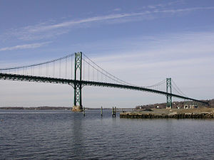 Portsmouth, Rhode Island - The Mount Hope Bridge, connecting Portsmouth with Bristol, Rhode Island.