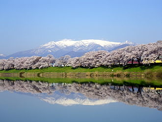 Mount Zaō - Mount Zaō with Sakura