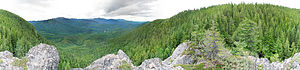 Olympic National Forest - Image: Mount Zion west slope, Olympic National Forest