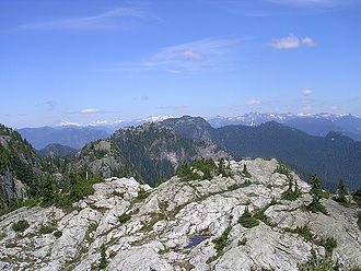 Mount Seymour - View from First Pump Peak, one of Seymour's sub peaks.