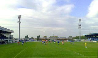 Mourneview Park Football stadium in Lurgan, Northern Ireland