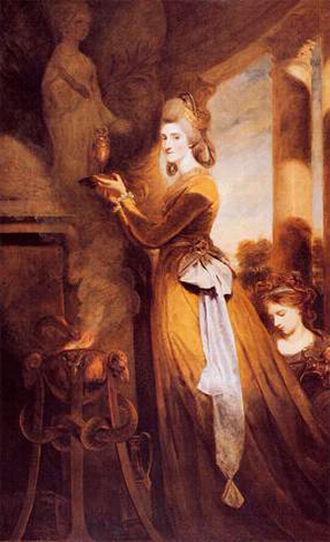Louisa Pitt - Portrait of Mrs Peter Beckford by Sir Joshua Reynolds, 1782