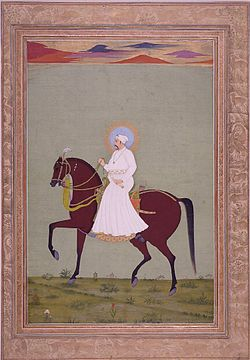 Muḥammad Sháh on horseback.jpg
