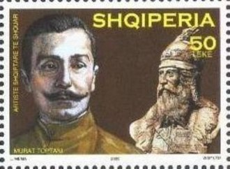 Murad Toptani - Toptani on a 2003 stamp of Albania