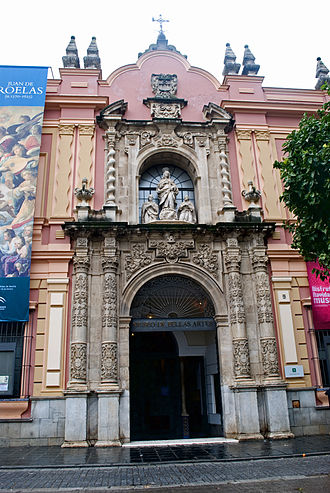 Museum of Fine Arts of Seville - Façade of the Museum of Fine Arts of Seville