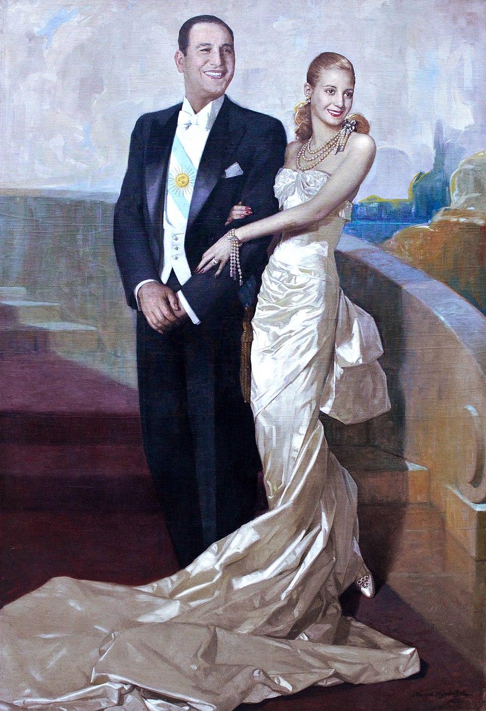 Museo del Bicentenario - %22Retrato de Juan Domingo Per%C3%B3n y Eva Duarte%22, Numa Ayrinhac