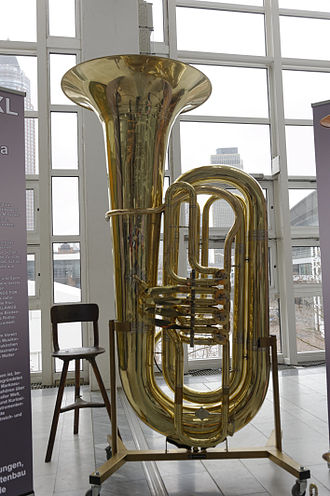 Musikmesse Frankfurt - giant tuba at the Musikmesse Frankfurt 2013, which was over 2 m high and weighed 50 kg